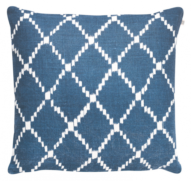 Ikat Kerela - Blue Base in the group Cushions / Linen Cushion Covers at Chhatwal & Jonsson (ZCC290144-2)