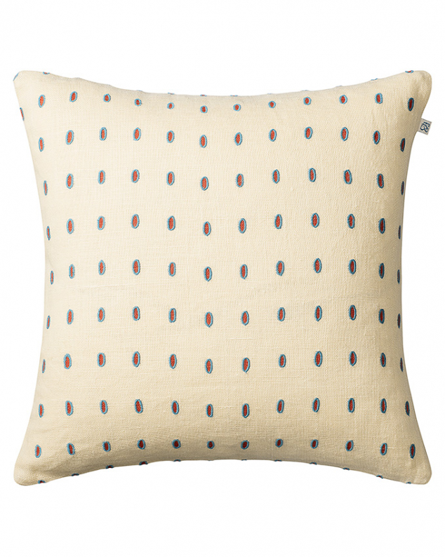 Drop - Lt. Beige/Apricot/Heaven Blue in the group Cushions / Embroidered Cushion Covers at Chhatwal & Jonsson (ZCC370161-17B)