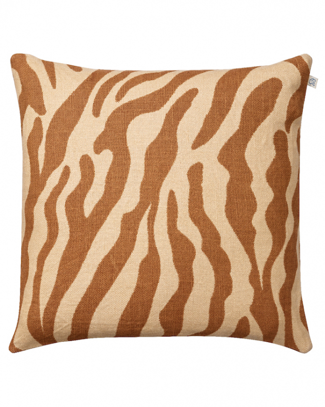 Zebra - Taupe in the group Cushions / Linen Cushion Covers at Chhatwal & Jonsson (ZCC440109-14B)