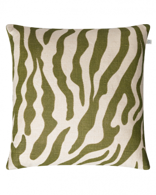 Zebra - Cactus Green in the group Cushions / Linen Cushion Covers at Chhatwal & Jonsson (ZCC440172-15B)