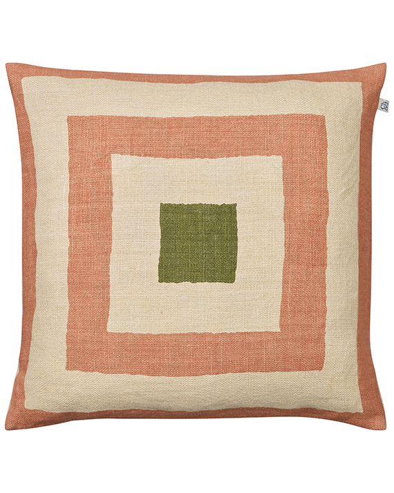 Shillong - Rose/Light Beige/Cactus Green in the group Cushions / Linen Cushion Covers at Chhatwal & Jonsson (ZCC680131-13B)