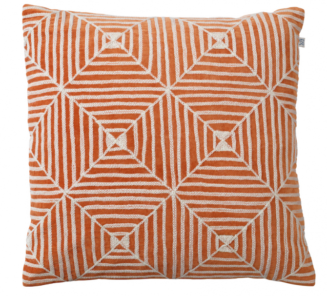 Kulgam - Orange in the group Cushions / Embroidered Cushion Covers at Chhatwal & Jonsson (ZCC690160-8V)