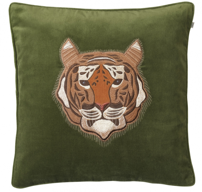 Tiger - Cactus Green in the group Cushions / Embroidered Cushion Covers at Chhatwal & Jonsson (ZCC730172-11V)