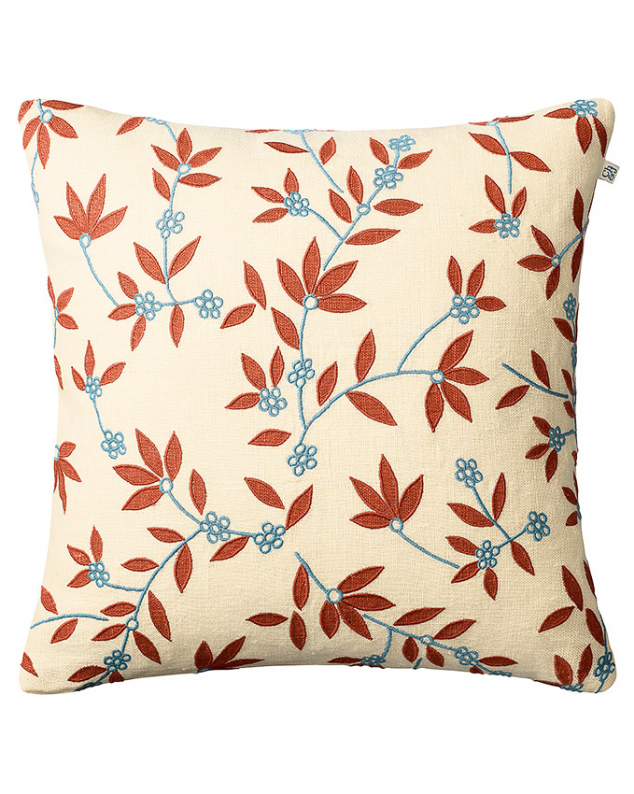 Gita - Lt. Beige/Apricot/Heaven Blue in the group Cushions / Embroidered Cushion Covers at Chhatwal & Jonsson (ZCC750161-17B)