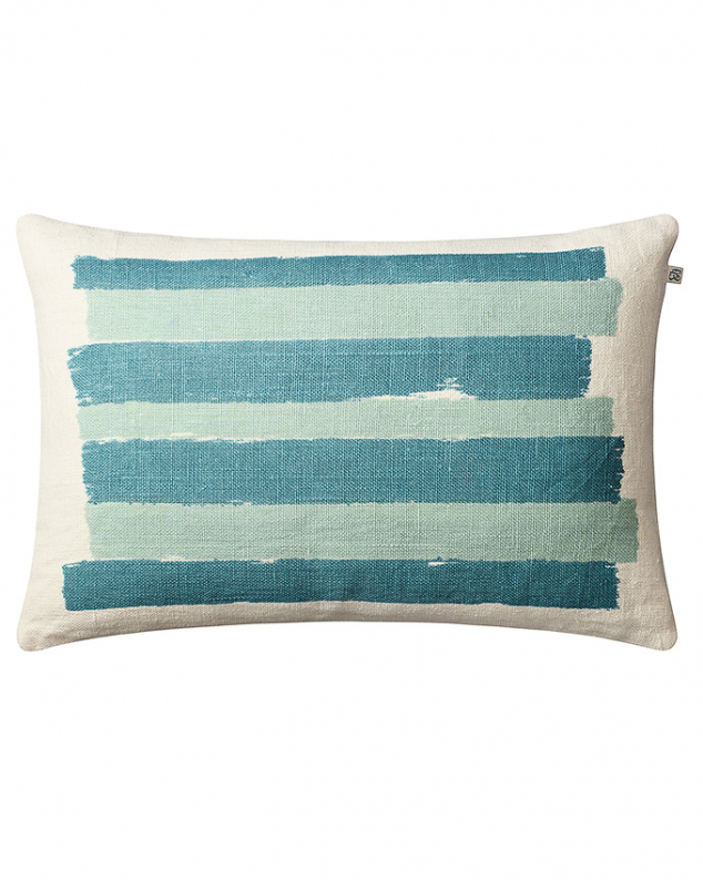 Asha - Off White/Heaven Blue/Aqua in the group Cushions / Linen Cushion Covers at Chhatwal & Jonsson (ZCC790250-17)