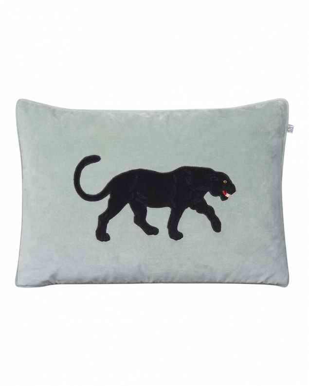 Black Panther - Aqua in the group Cushions / Embroidered Cushion Covers at Chhatwal & Jonsson (ZCC830252-13V)