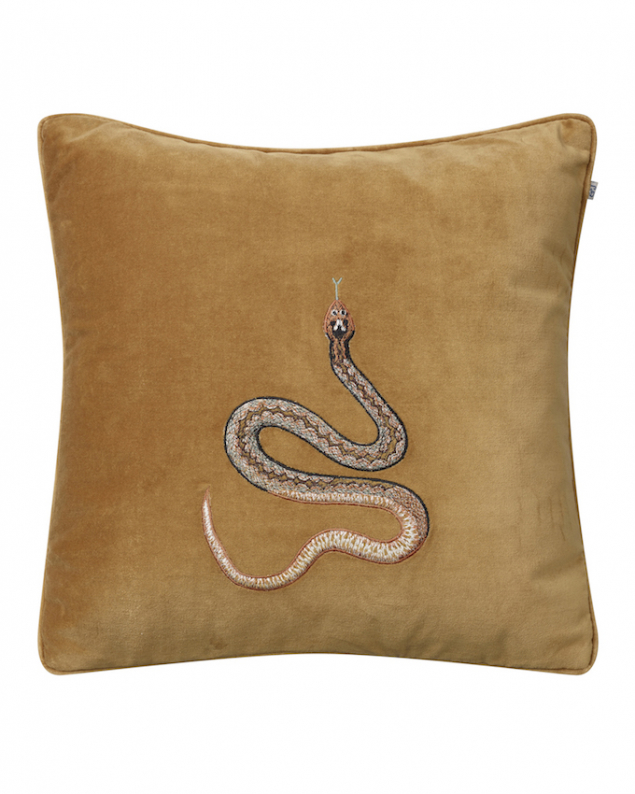 Cobra - Masala Yellow in the group Cushions / Embroidered Cushion Covers at Chhatwal & Jonsson (ZCC950133-13V)