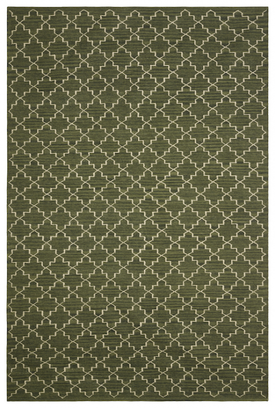 New Geometric - Green Melange/Off White in the group Rugs / Wool Rugs at Chhatwal & Jonsson (ZDH222271-6)