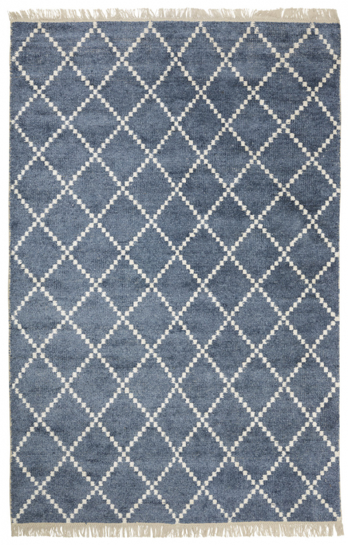 Kochi - Blue Melange/White in the group Rugs / Viscose Rugs at Chhatwal & Jonsson (ZDH422246-10)