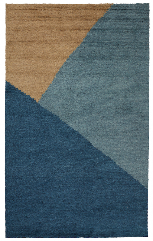 Mala - Mocca/Blue Melange/Dark Blue in the group Rugs / Shag rugs at Chhatwal & Jonsson (ZDH512281-14)