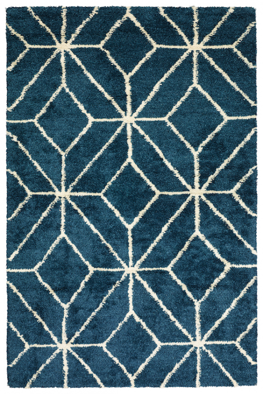 Berber Ayur - Blue Melange/White in the group Rugs / Shag rugs at Chhatwal & Jonsson (ZDH762246-8B1)