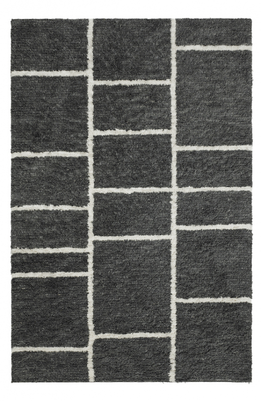 Sita Shag - Grey Melange/White TRACEABLE in the group Rugs at Chhatwal & Jonsson (ZDH912215-15)